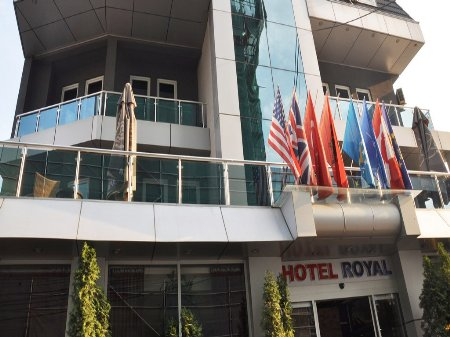 hotel royal pristina kosovo front view