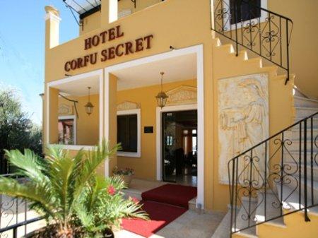 hotel corfu secret greece front view