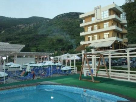 hotel paradise beach vllora front view